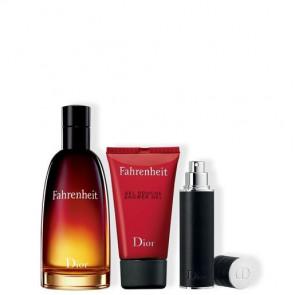 Cofanetto regalo  Fahrenheit Eau de Toilette - spray da viaggio - gel doccia
