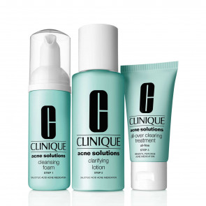 3 Step System Anti-blemish - Cleansing Foam 50 Ml, Clarifying Lotion 100 Ml, Clearing Moisturizer 30 Ml