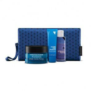 Hydration Passion Kit - Crema Gel Idratante Fresca + Crema Idratazione Profonda + Struccante Delicato Istantaneo Viso-Occhi-Labbra + Blue Beauty Case